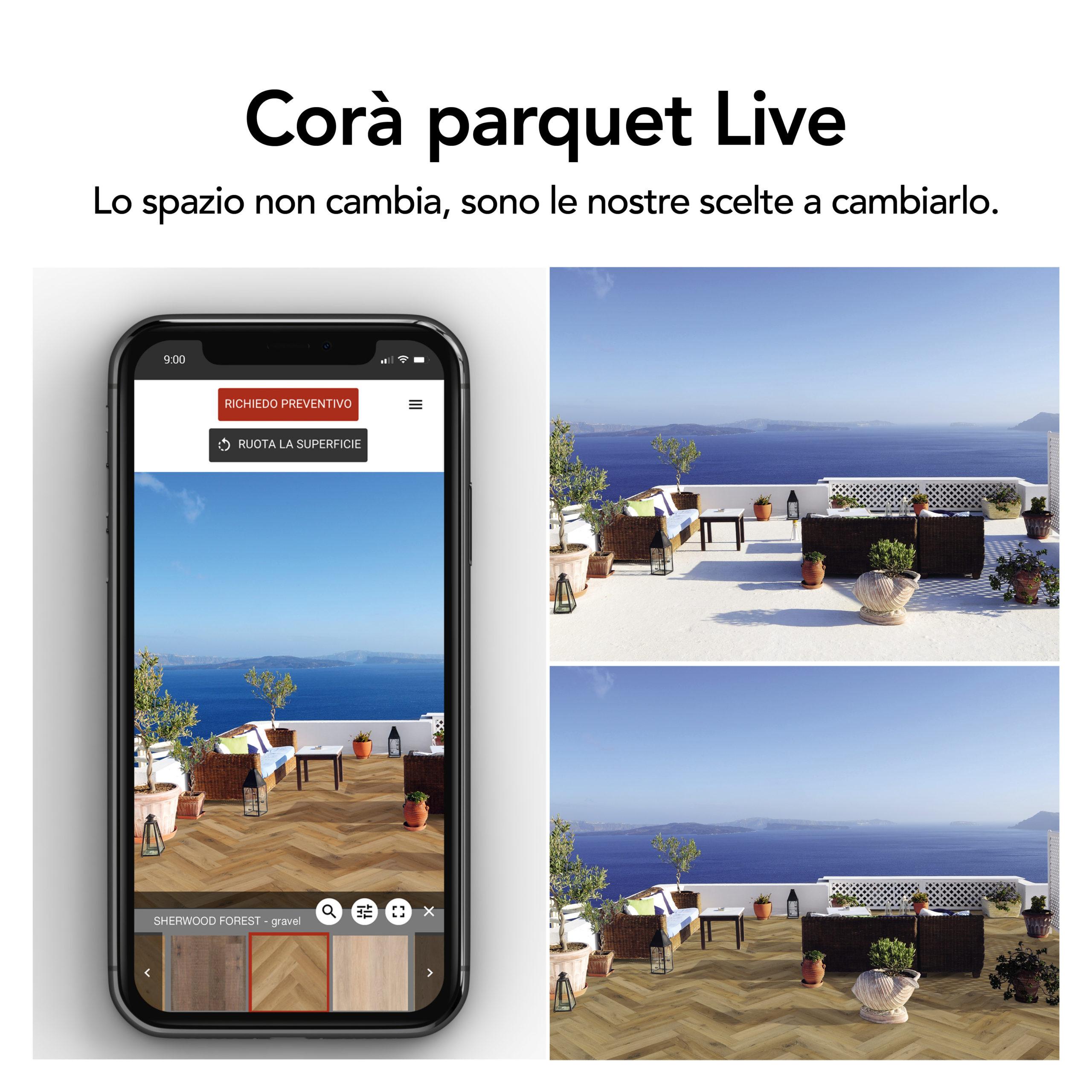 Corà parquet live post FB
